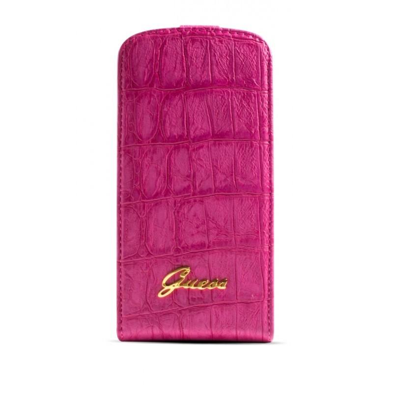 Crocodile Galaxy S4 Flip Case Matte Pink