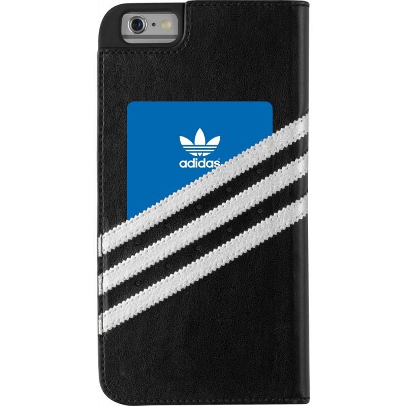 Adidas Basics Premium Booklet iPhone 6 Plus / 6S Plus Black / Silver