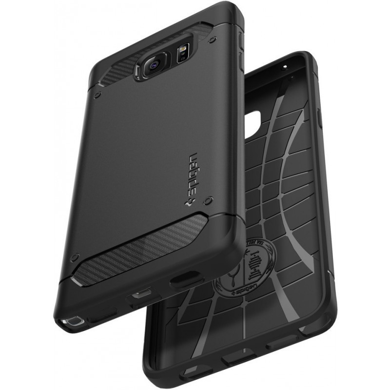 Spigen Rugged Armor Galaxy Note 5 Black