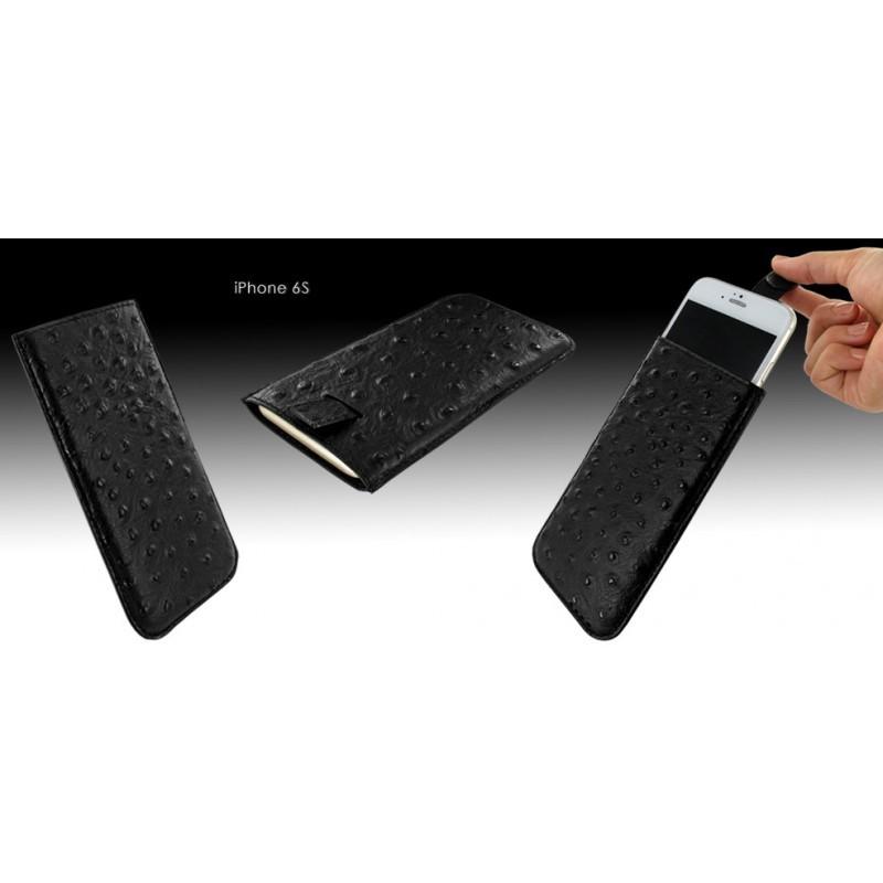Piel Frama Pull Sleeve iPhone 6(S) / 7 Ostrich zwart