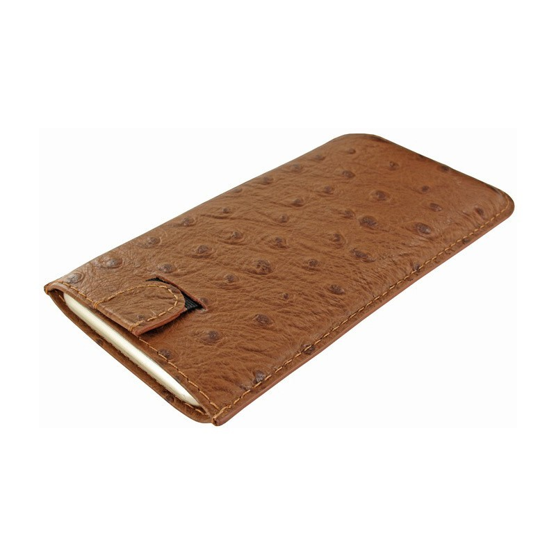 Piel Frama Pull Sleeve iPhone 6(S) /7 / 8 Ostrich Tan