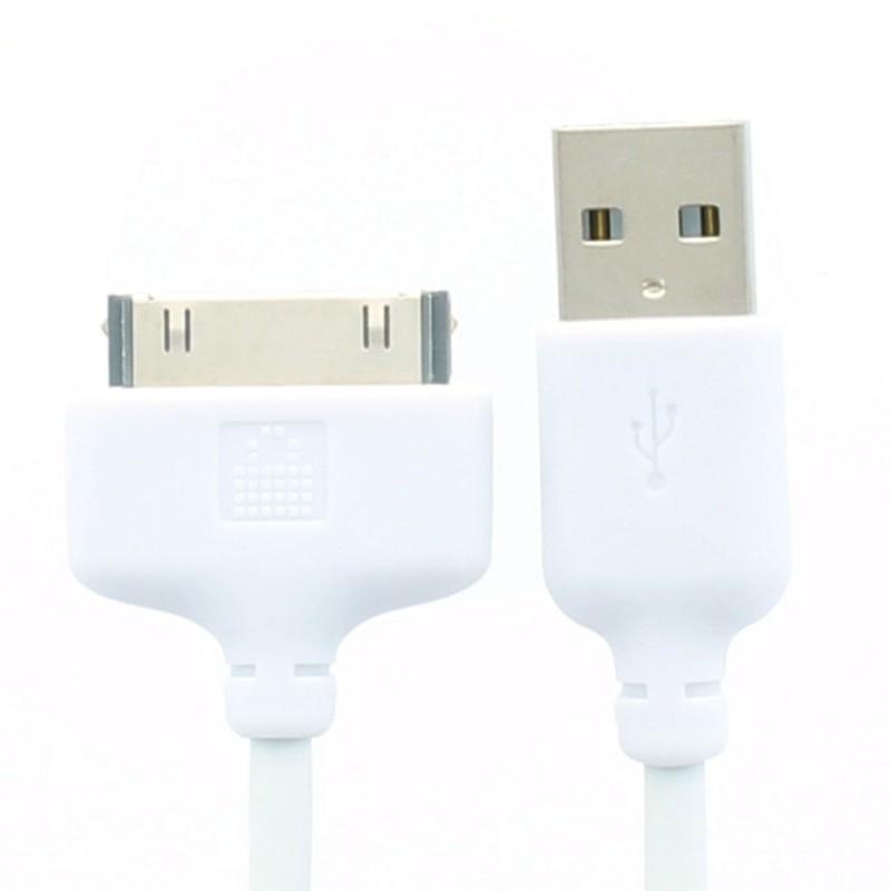 LocknCharge 30-pin dock connector naar USB kabel voor iPod / iPhone / iPad