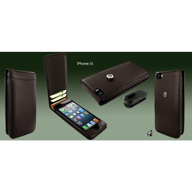 Piel Frama Magnetic iPhone 5(S)/SE bruin