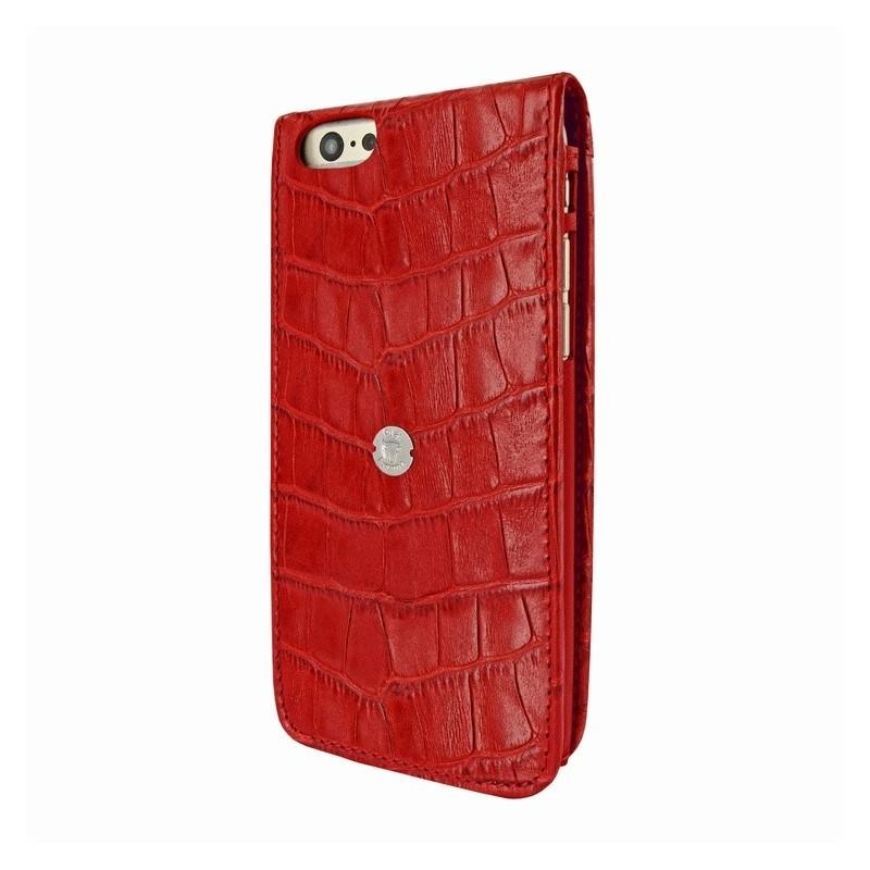 Piel Frama Magnetic iPhone 6(S) Crocodile rood