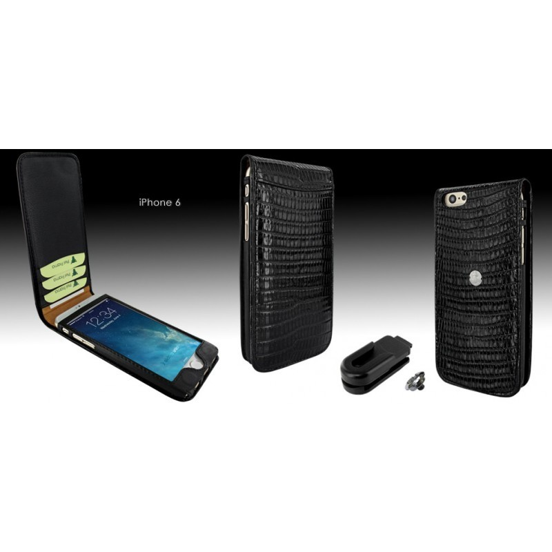 Piel Frama Magnetic iPhone 6(S) Lizard zwart