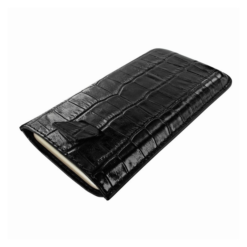 Piel Frama Pull Sleeve iPhone 6(S) / 7 Crocodile zwart