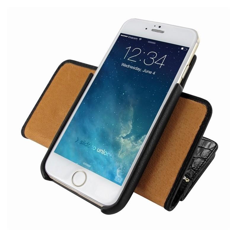 Piel Frama Wallet iPhone 6(S) Swarovski zwart