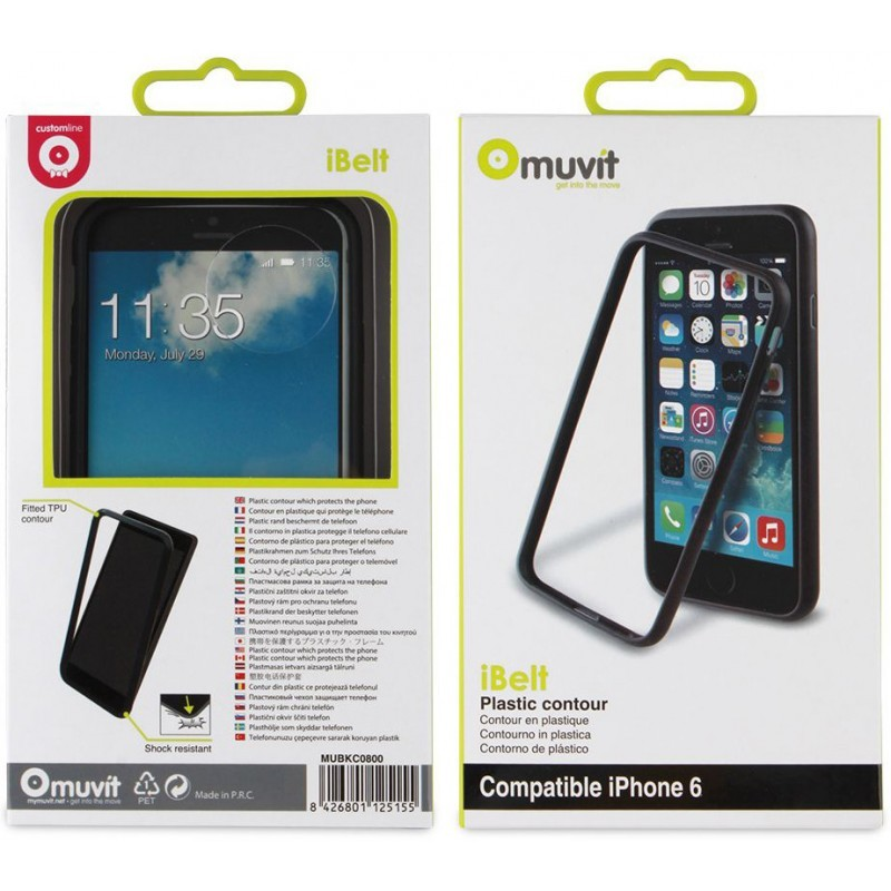Muvit iBelt Bumper Case iPhone 6 / 6S Black