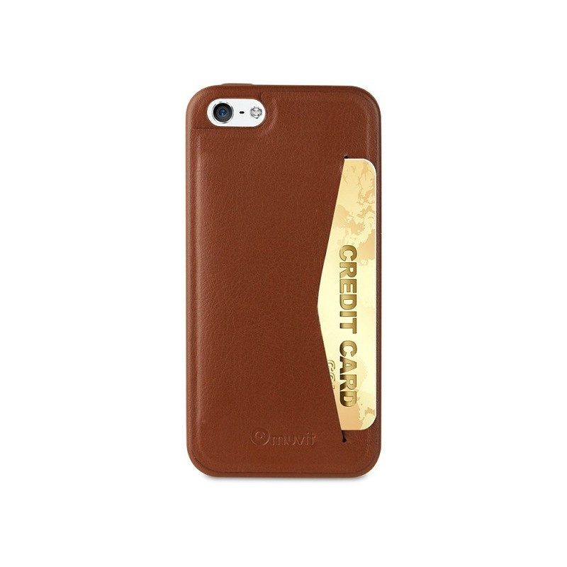 Muvit Leatherette Back Case iPhone 5(S)/SE Brown