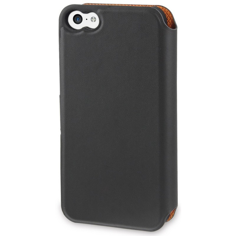 Muvit Magic Wallet Case iPhone 5C grijs/oranje