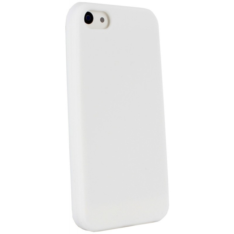 Muvit Siliconen Case iPhone 5(S)/SE wit