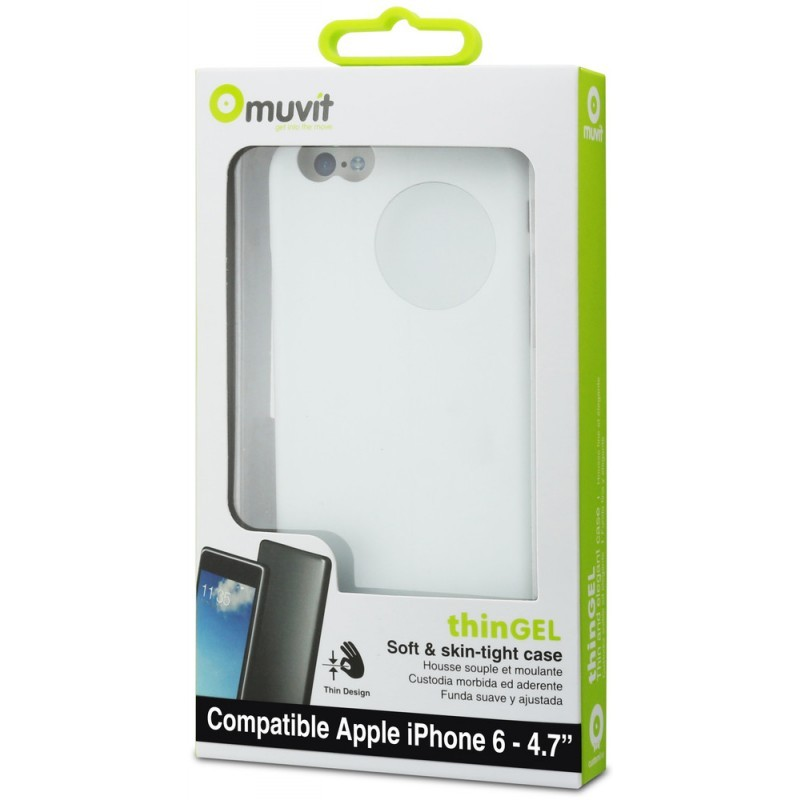 Muvit ThinGel Case iPhone 6(S) wit