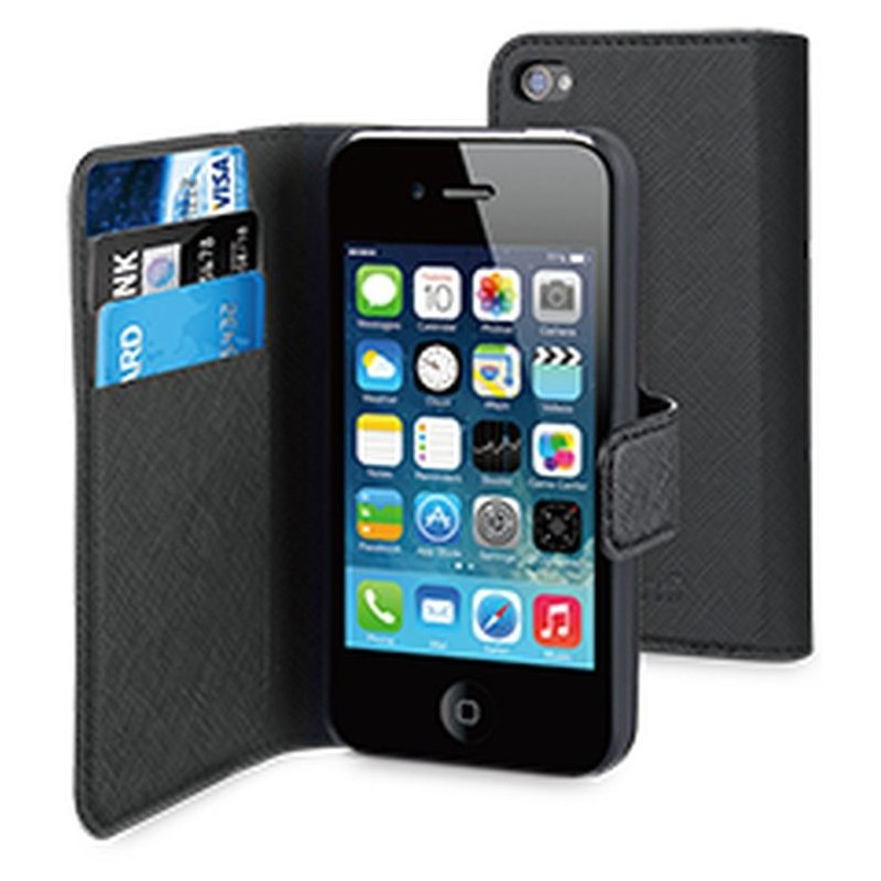 Muvit Wallet Case iPhone 4(S) zwart