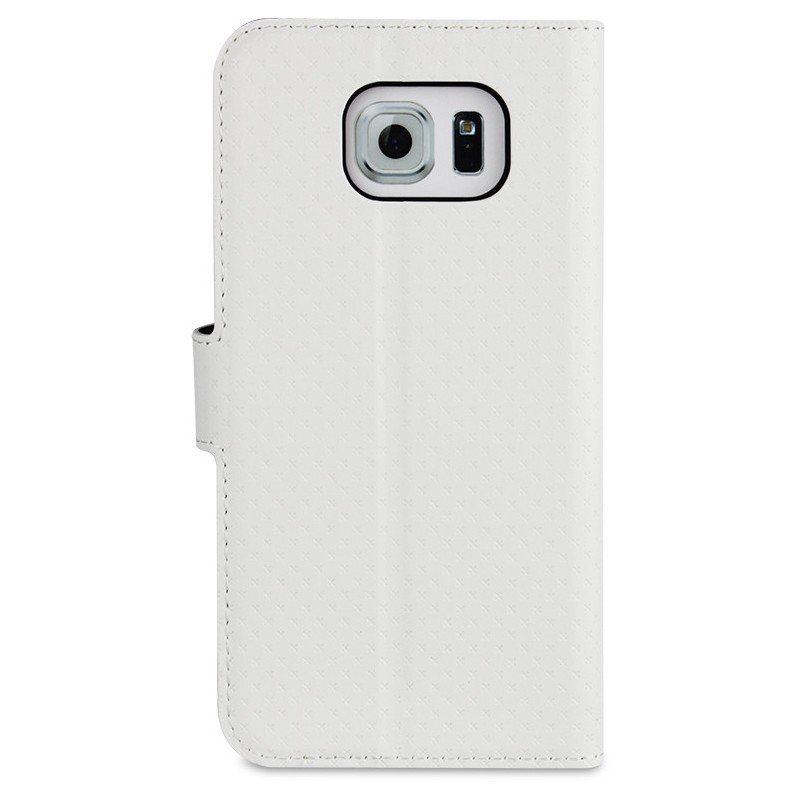 Muvit Wallet Stand case Galaxy S6 White