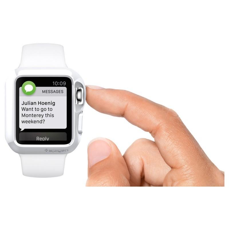 Spigen Slim Armor Apple Watch 42mm zilver