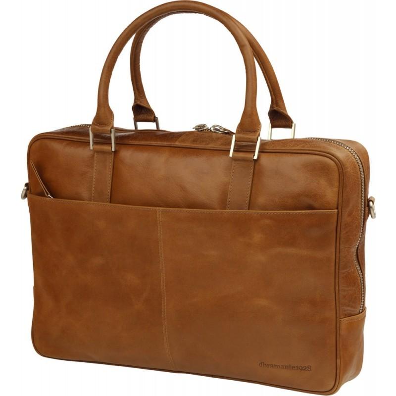 dbramante1928 Rosenborg MacBook 14 inch Leather Business Bag Golden Tan