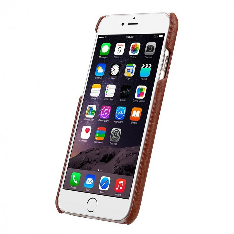 Melkco Back Cover iPhone 6 / 6S Case Card Slot Orange Brown
