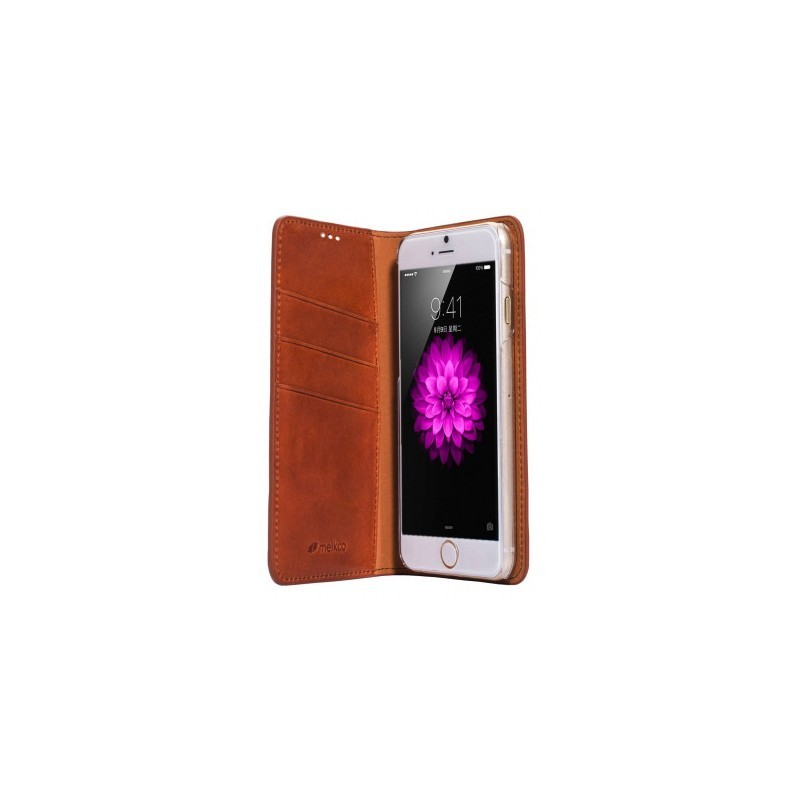 Melkco Herman iPhone 6 / 6S Book Case Italian Orange