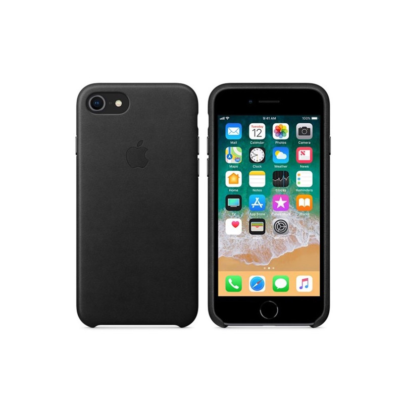 Apple leather case iPhone 7 / 8 / SE 2020 black