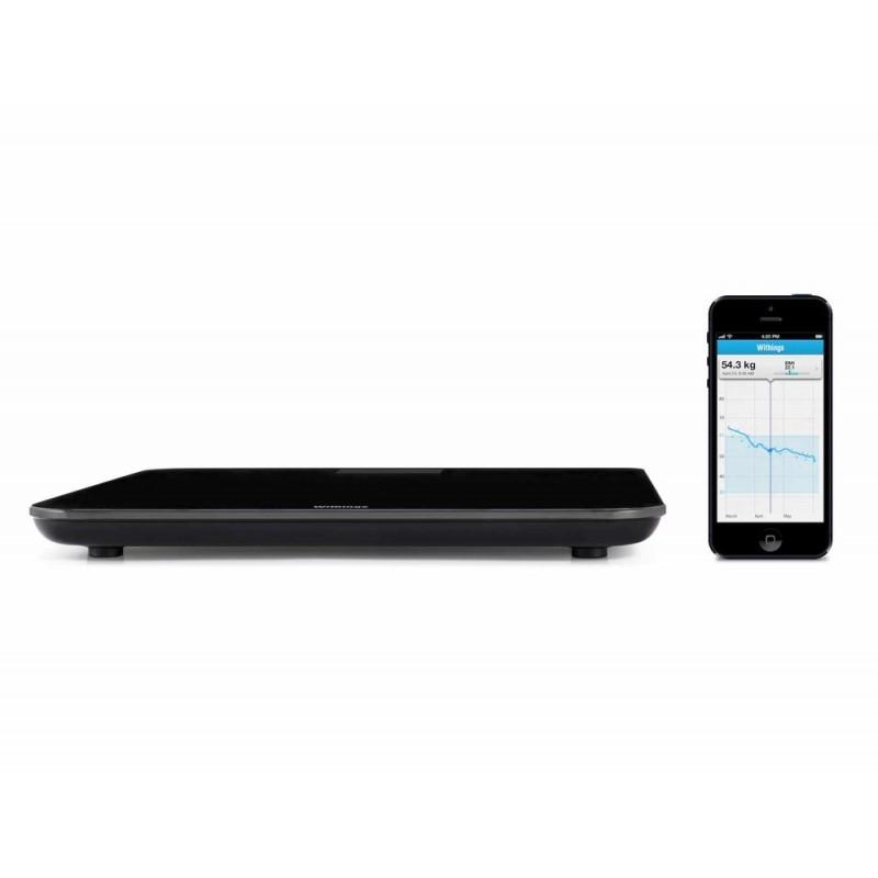 Withings weegschaal WIFI (Wireless Scale WS-30) zwart iPad, iPhone en iPod Touch - Withings Weegschaal