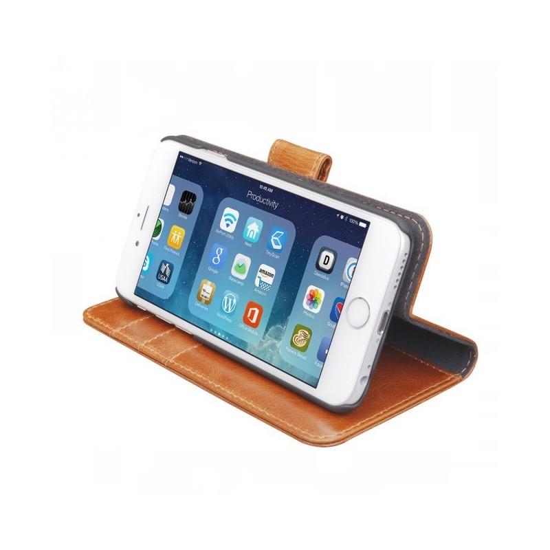 DBramante1928 Lynge Detachable Wallet  iPhone 6(S) Golden Tan