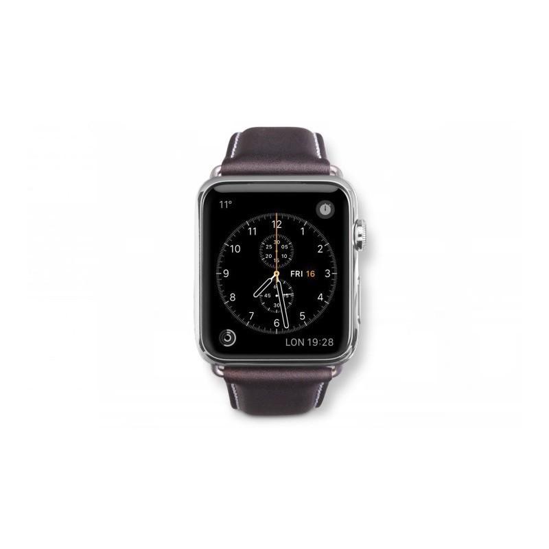Dbramante1928 Kopenhagen Apple Watch bandje 42mm grijs/donkerbruin