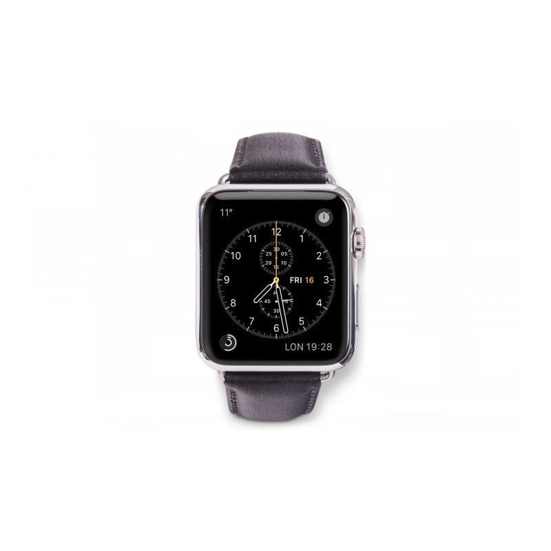 Dbramante1928 Kopenhagen Apple Watch bandje 42mm grijs/zwart