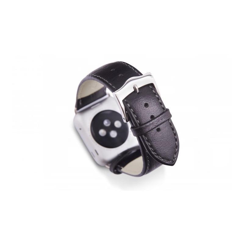 Dbramante1928 Kopenhagen Apple Watch bandje 38mm zilver/zwart