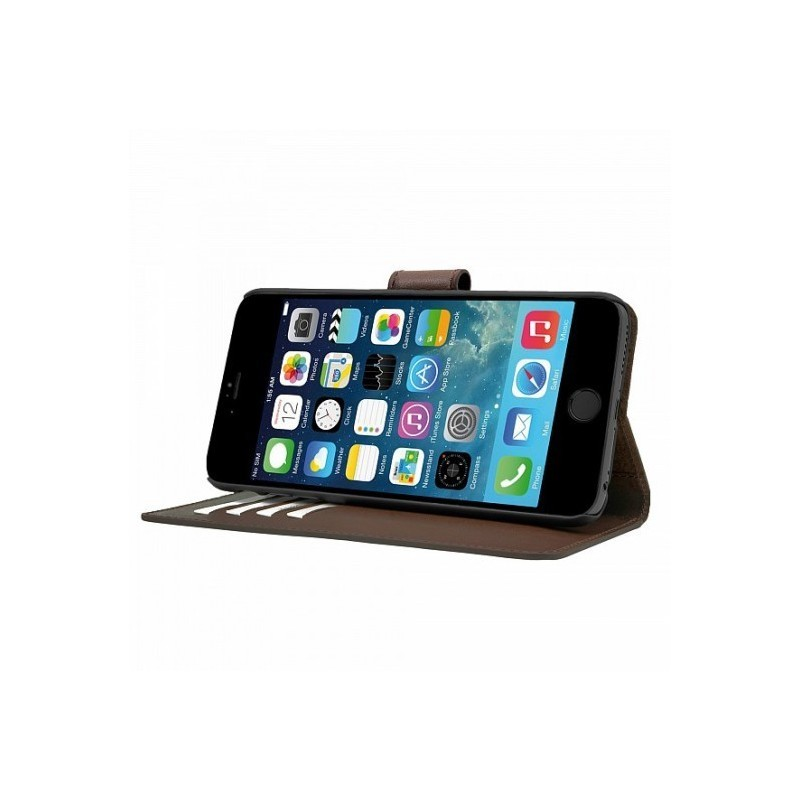 Bugatti Bookcase Milano wallet leer iPhone 6