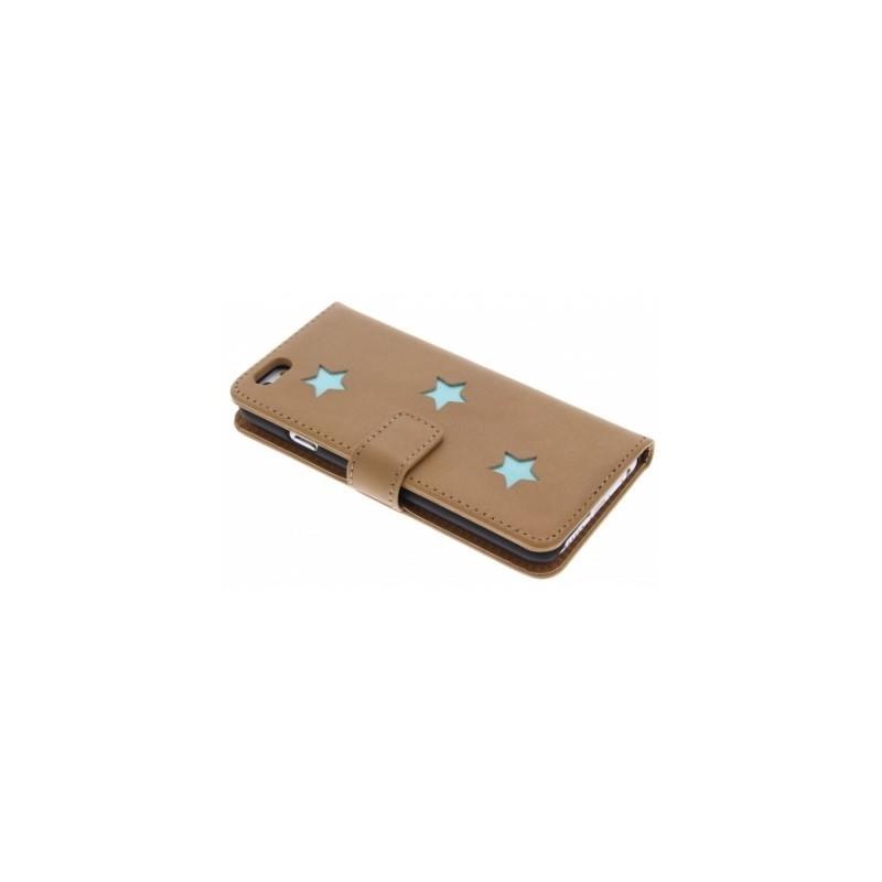 Fab. Aqua Reversed Star Book Case iPhone 6(S)