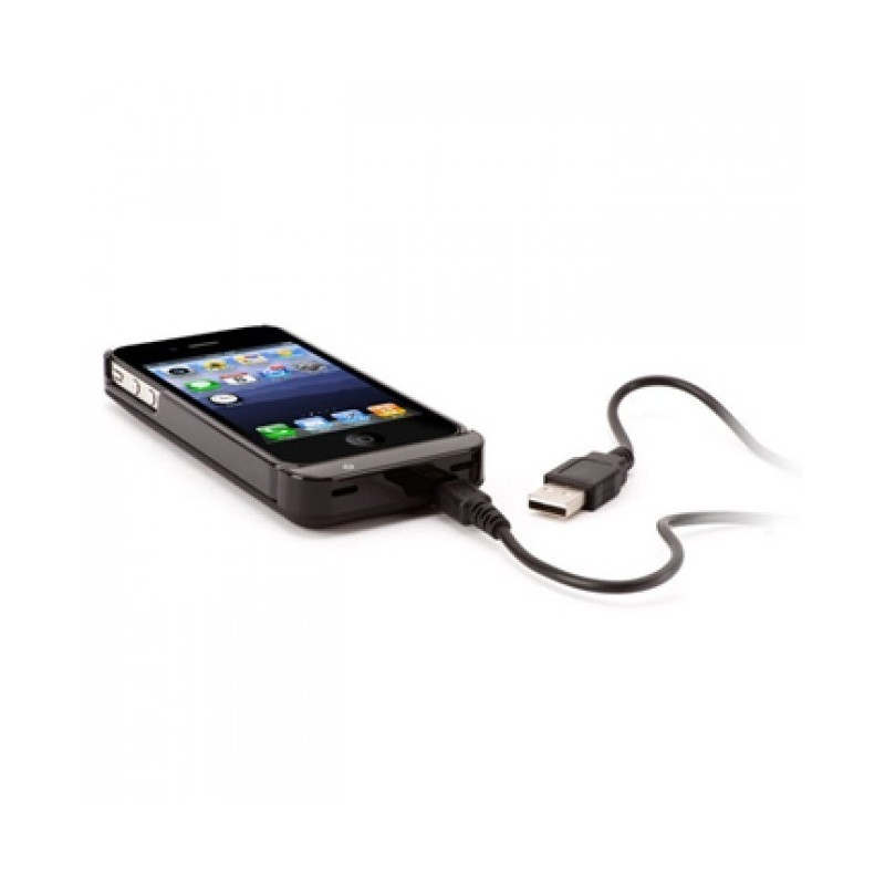 Griffin Externe Batterij (Reserve Convertible) zwart iPhone 4(S) 1450 mAh