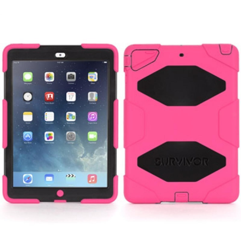 Griffin Survivor Extreme Duty hardcase iPad Air roze