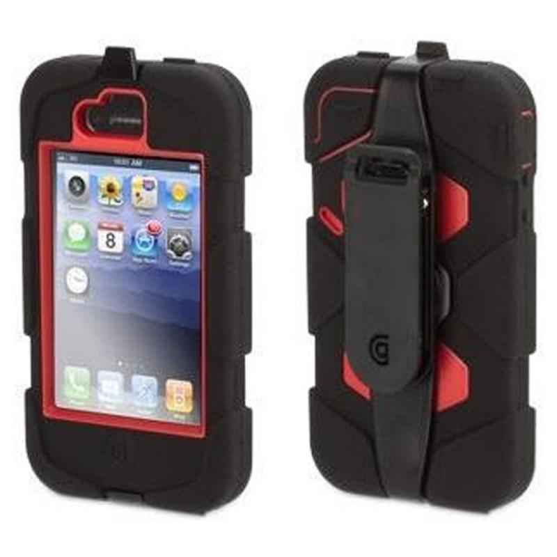 Griffin Survivor hardcase iPhone 4(S) rood/zwart