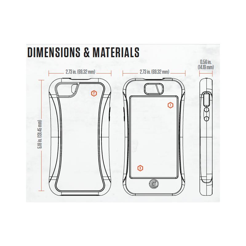 Griffin Survivor Slim (SurvivorSlim) hardcase iPhone 5 zwart (GB35564-2)