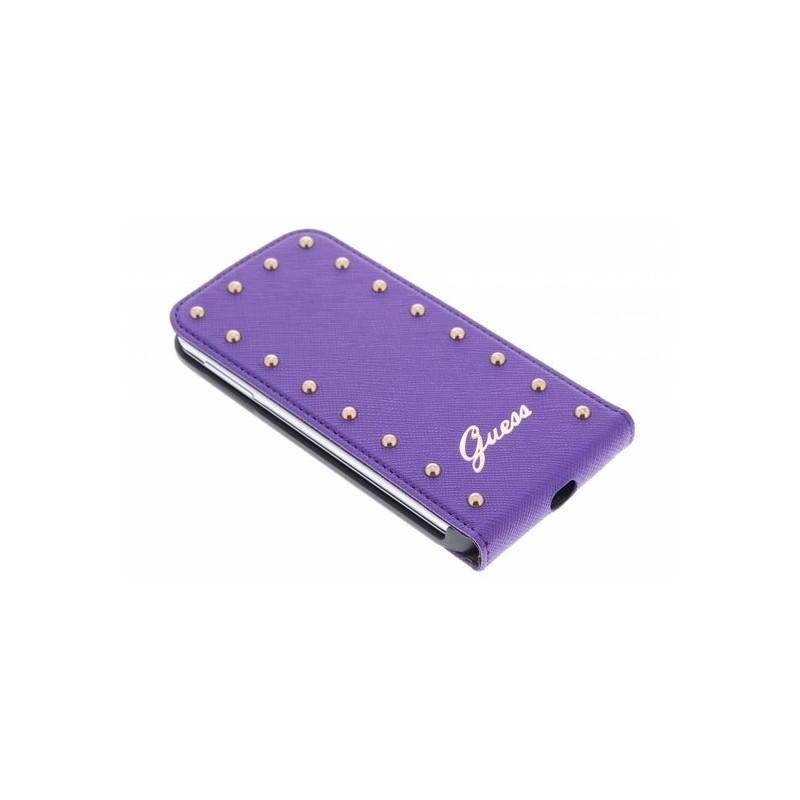 Studded Galaxy S4 Flip Case Purple