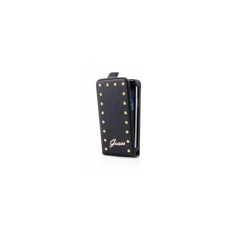 Guess Studded Flip Case iPhone 5(S)/SE zwart