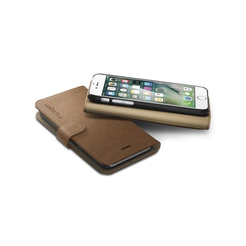 Spigen Wallet S iPhone 7 bruin