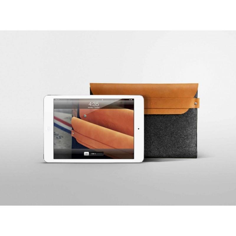 Mujjo Envelope sleeve iPad Mini bruin/grijs