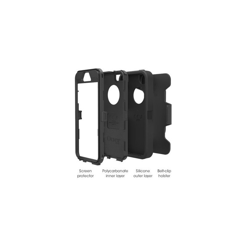 Otterbox Defender case iPhone 5(S)/SE zwart