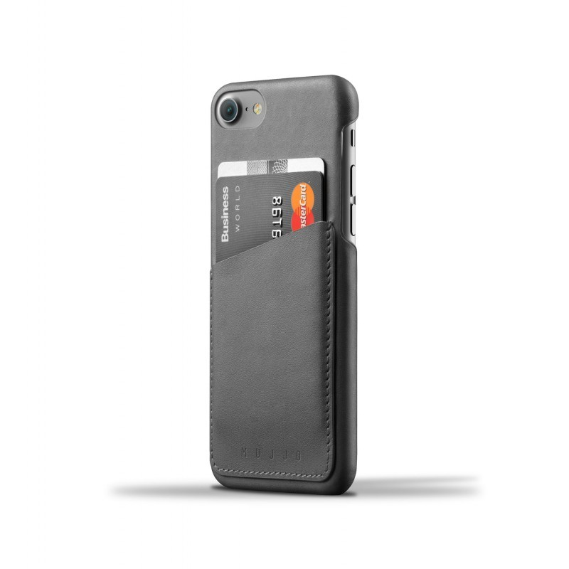Mujjo wallet leren case iPhone 7 zwart