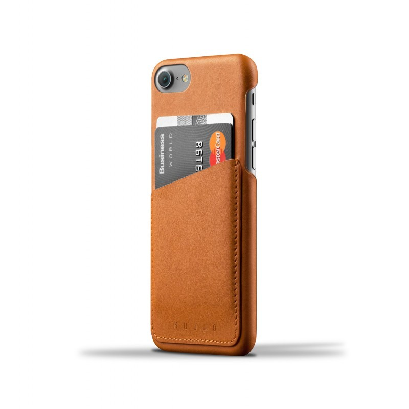 Mujjo wallet leren case iPhone 7 bruin