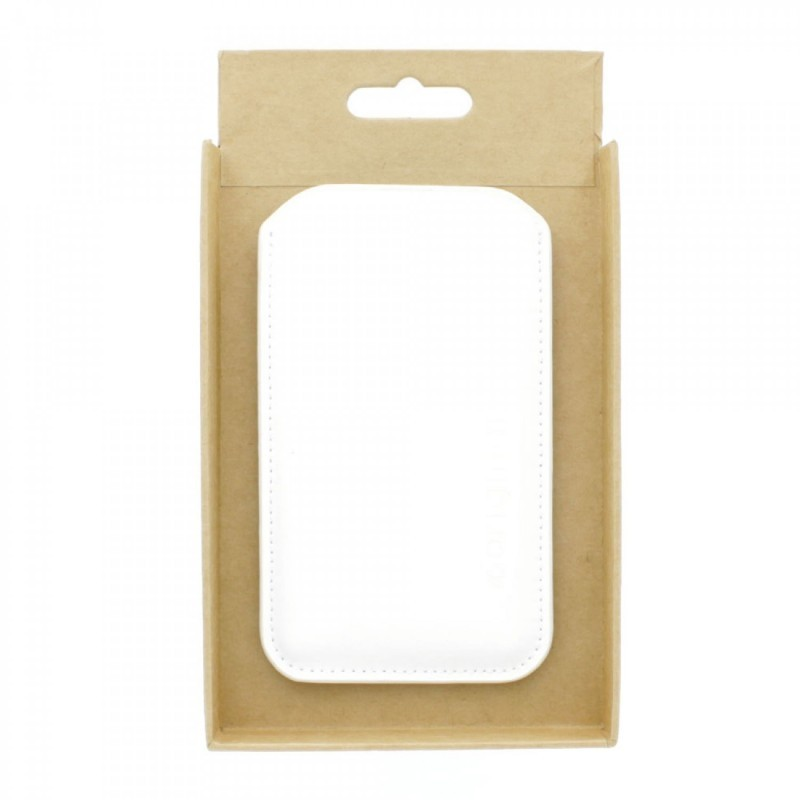 Mujjo Sleeve Lederen Hoes iPhone 5(S)/SE  wit