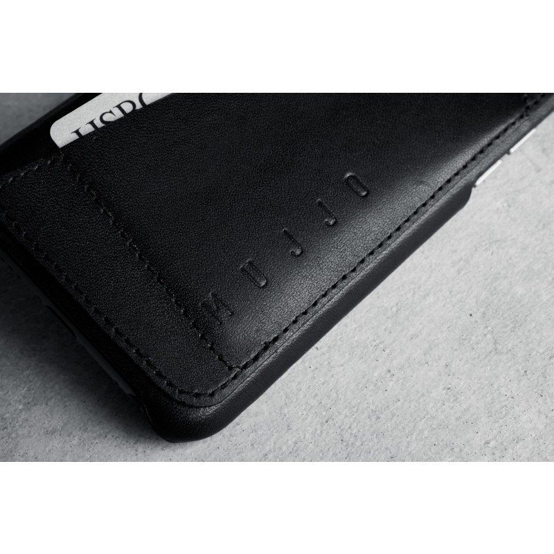 Mujjo Leather Wallet Case 80° iPhone 6(S) zwart