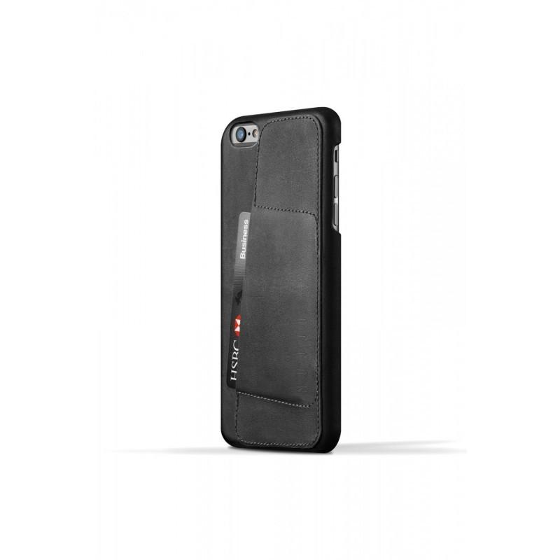 Mujjo Leather Wallet Case 80° iPhone 6(S) Plus zwart