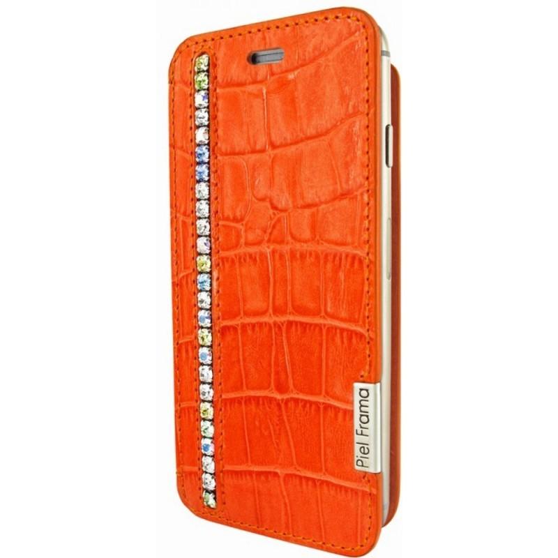 Piel Frama FramaSlim iPhone 6(S) Crocodile Swarovski oranje