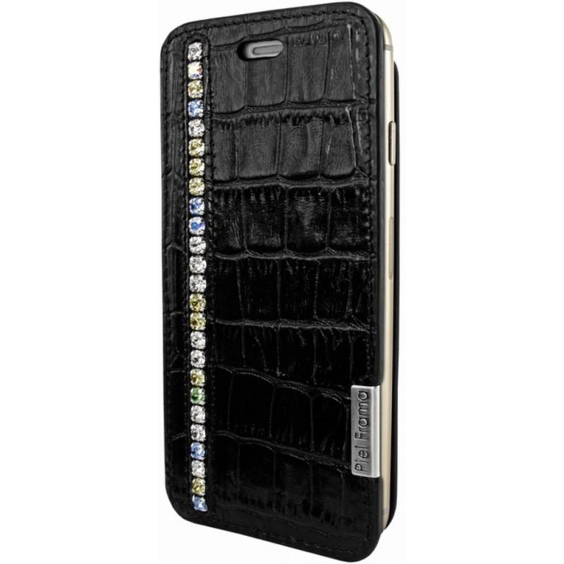 Piel Frama FramaSlim iPhone 6(S) Crocodile Swarovski zwart