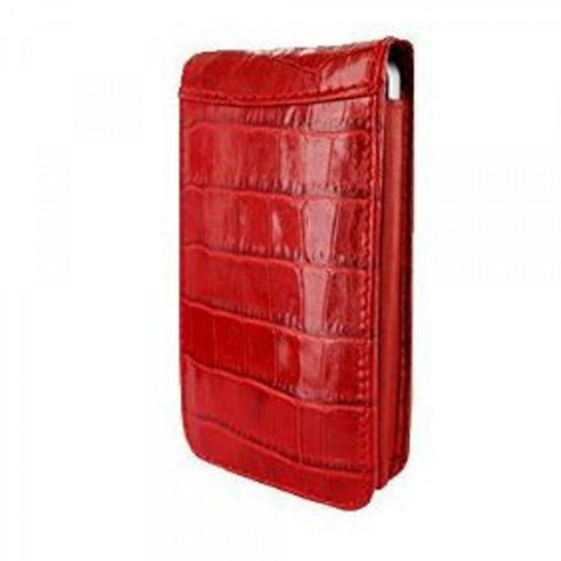 Piel Frama Magnetic iPhone 5(S)/SE Crocodile rood