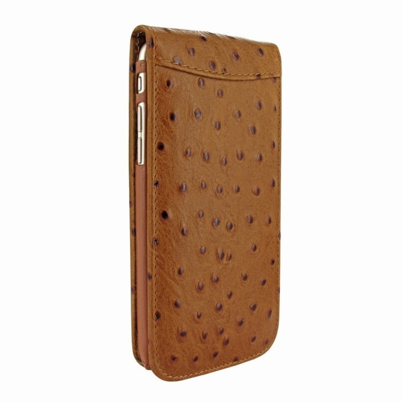 Piel Frama Magnetic iPhone 6(S) Ostrich Tan