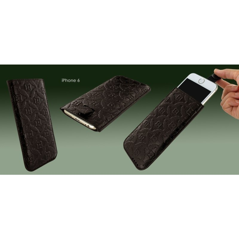 Piel Frama Pull Style Sleeve iPhone 6(S) / 7 bruin