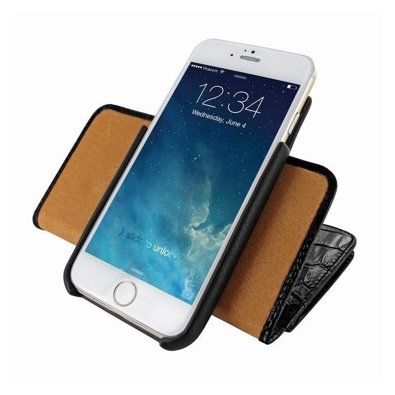 Piel Frama Wallet iPhone 6(S) Croco zwart